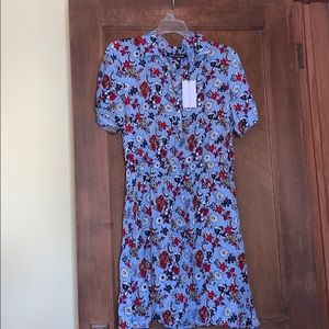 Calvin Klein jeans floral Shirtdress - large NWT